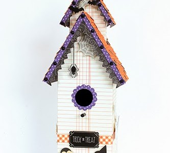 Tick-or-Treat Haunted House Paper Craft {Thirty-One}