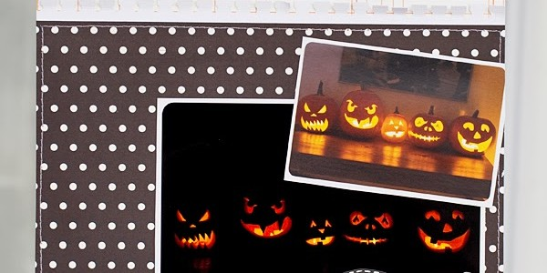 Jacks x 5 Halloween Scrapbook Layout