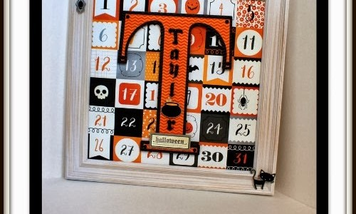 Halloween Monogram Door Decor {Thirty-One}