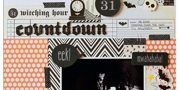 Witching Hour Countdown Halloween Scrapbook Layout