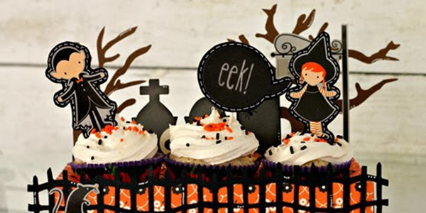 Halloween Cupcake Toppers {Thirty-One}