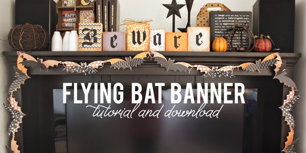 Flying Bat Banner {Thirty-One}
