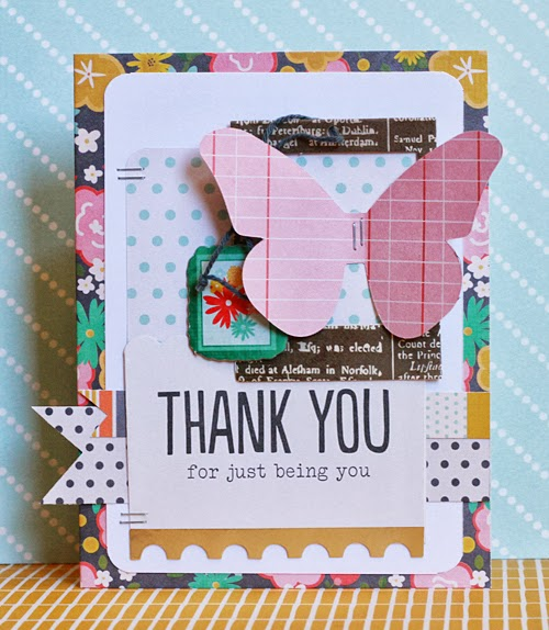 Handmade Thank You Card Pebbles Inc