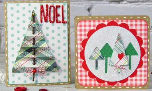 Handmade Christmas Cards with Everyday Paper