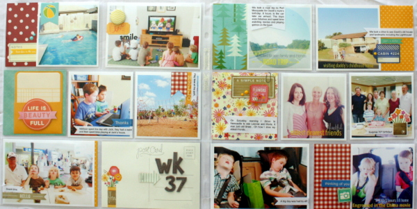 Project Life Two Page Layout