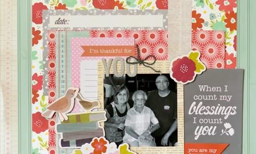 Dear Grandmother Scrapbook Layout