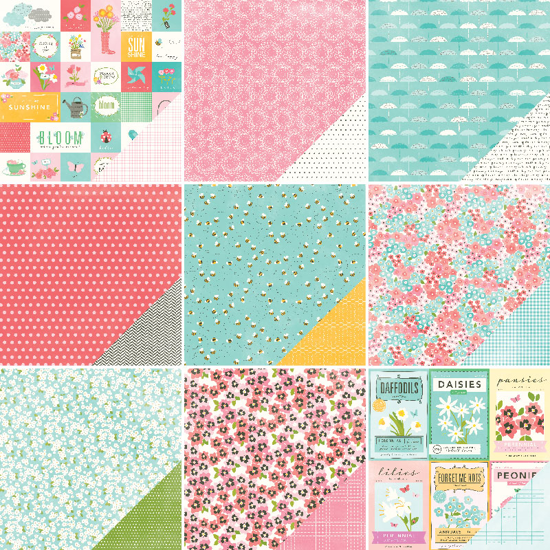On Sale Garden Party digital papers with flowers, butterflies ...