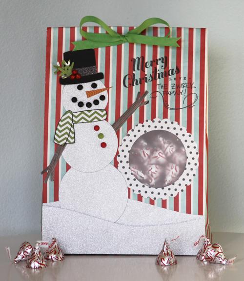 Snowman Treat Bag