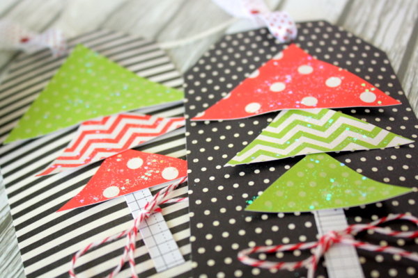 Last minute holiday gift tags