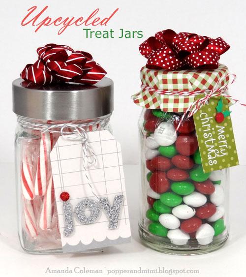 upcycled treat jars