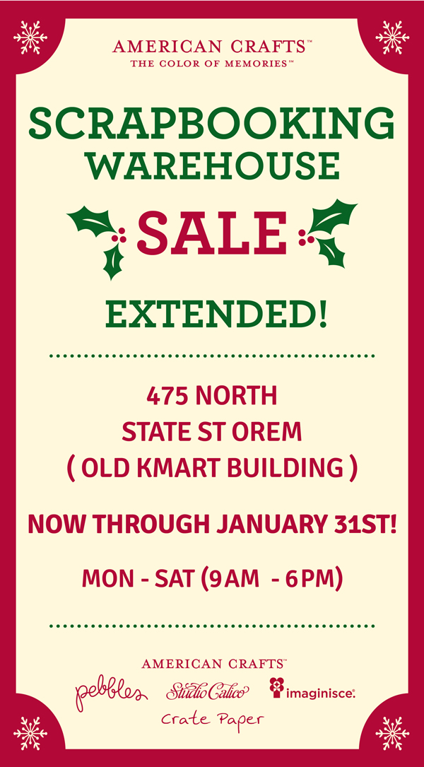 American Crafts Warehouse Sale Extended Pebbles Inc