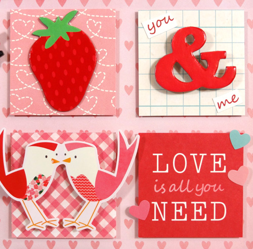 Valentine Home Decor squares detail by Amanda Coleman