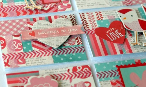 Patchwork Valentine's Day Cards