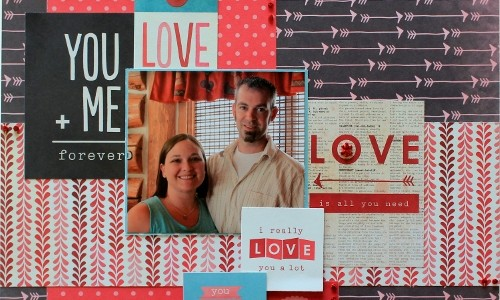 Layered Valentine's Day Layout