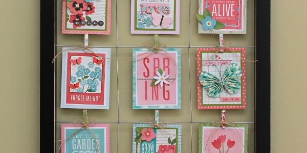 Framed Spring Journal Cards