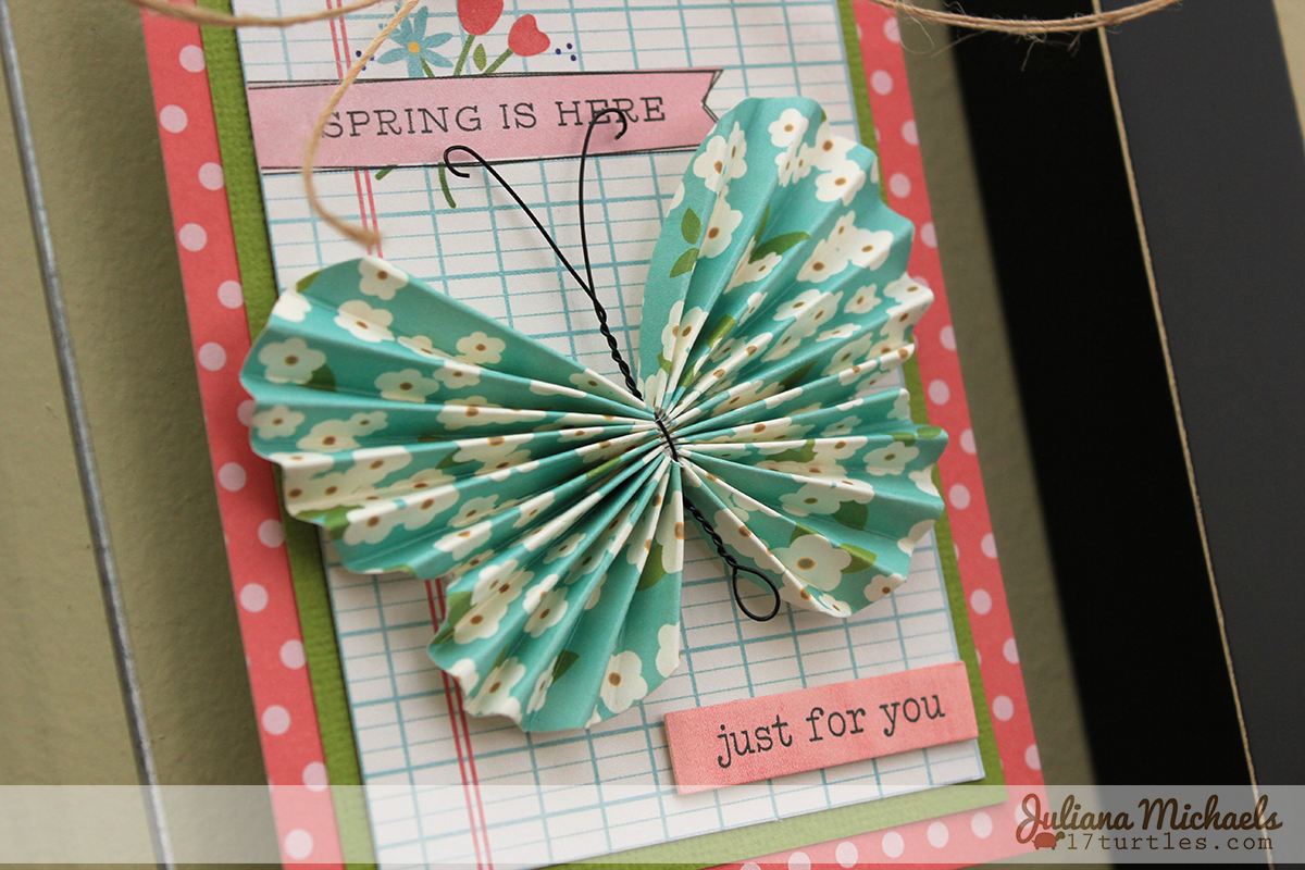 Framed Spring Art Using Journaling Cards
