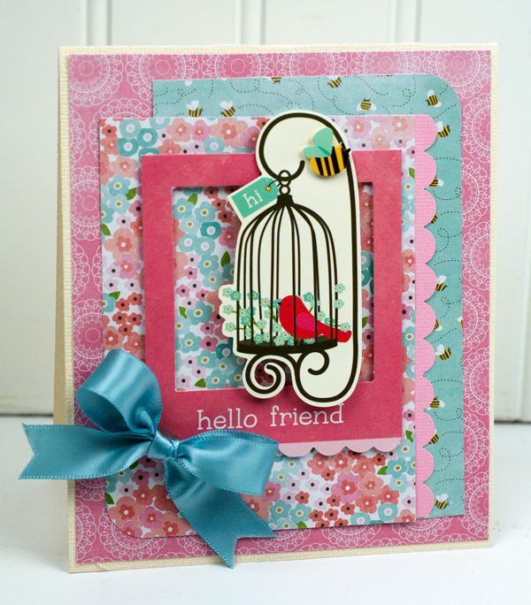 Handmade cards for spring featuring @pebblesinc Garden Party collection