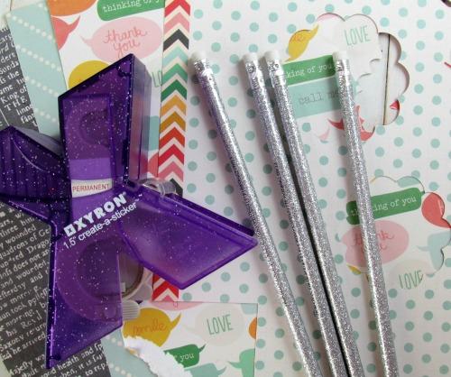 Paper Scrap Pencil Toppers