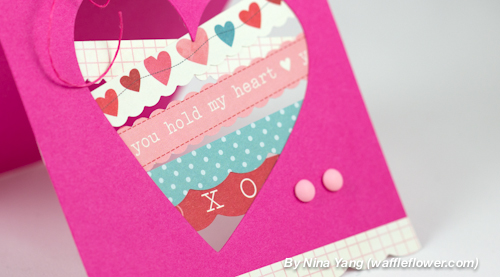 You Hold My Heart Handmade Card