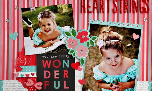 Heartstrings Valentine's Day Layout
