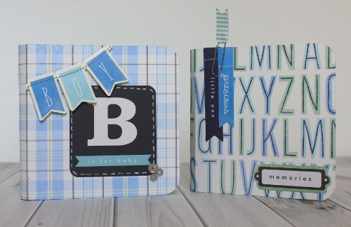 Baby boy mini album created by @samanthajt using @pebblesinc #SpecialDelivery #scrapbooking #minialbum #baby