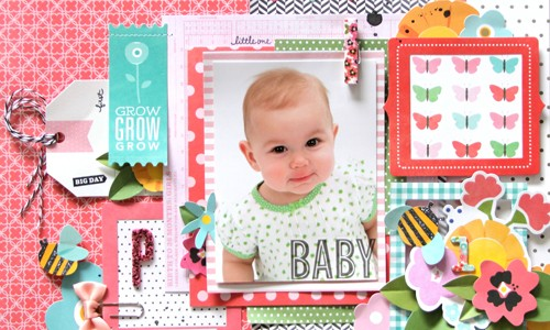Grow Baby Scrapbook Layout