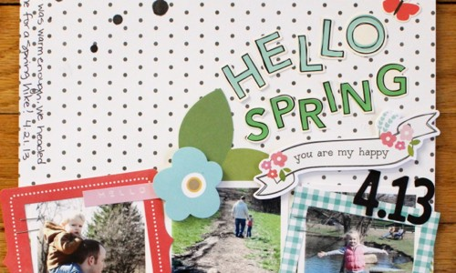 Spring Scrapbook Layout