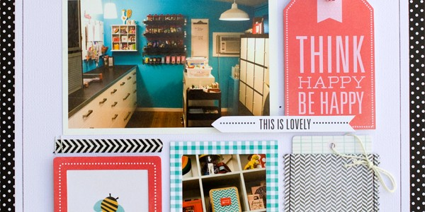 Happy Place Scrapbook Layout