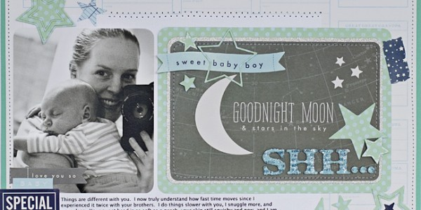 Special Delivery: Baby Boy Scrapbook Layout