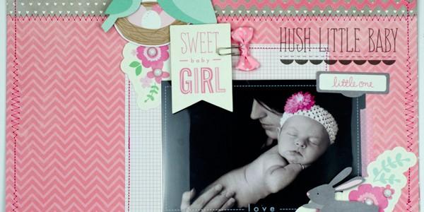 Hush Little Baby Scrapbook Layout
