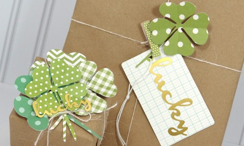 Shamrock Gift Toppers
