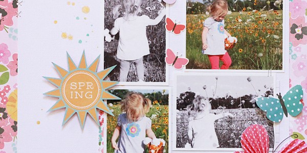 Hello Spring Scrapbook Layout