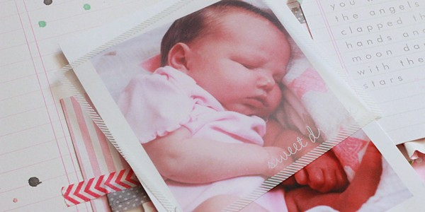 Special Delivery: Baby Girl Scrapbook Layout