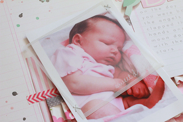 Special Delivery Baby Girl Scrapbook Layout Pebbles Inc