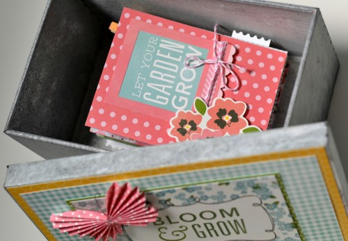 Spring memory box created by @scrappymermaid using @PebblesInc Garden Party collection #papercraft #craft #spring