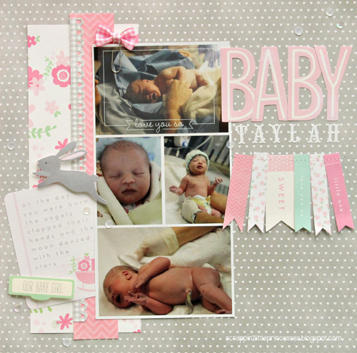 Baby Girl Scrapbook Layout Pebbles Inc