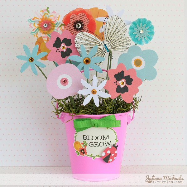 Paper flower bouquet teacher gift via @julianamichaels for @pebblesinc using #GardenParty #teacherappreciation #gift #paperflowers