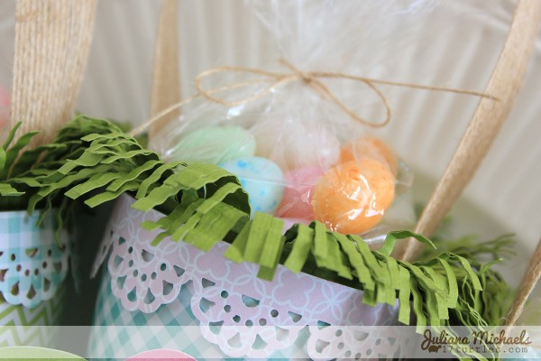 Easter treat cones created by @julianamichaels using @PebblesInc papers #Easter #craft