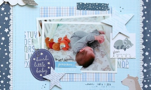 Hush Little Baby Scrapbook Layout