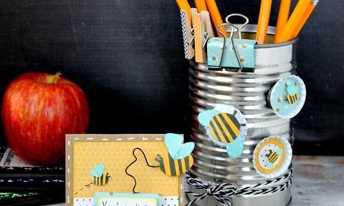 Teacher Appreciation: DIY Supply Holder + Magnets