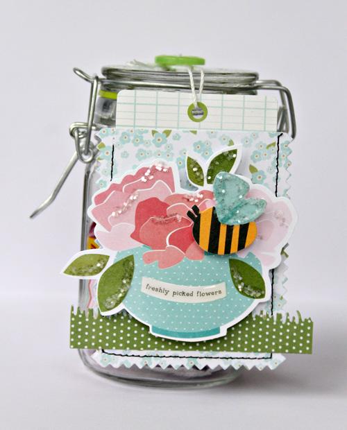 Teacher appreciation gift created by @2lilprins for @pebblesinc using #GardenParty collection #teacherappreciation #gift