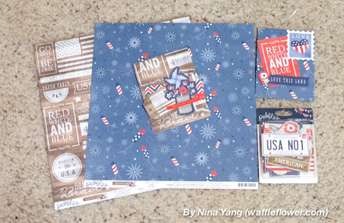 Fourth of July cards created by @ninacrafting for @PebblesInc created using the #Americana collection #handmade #cards #4thofjuly #patriotic