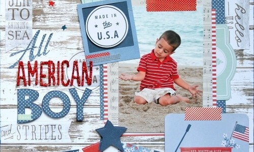 All American Boy Scrapbook Layout