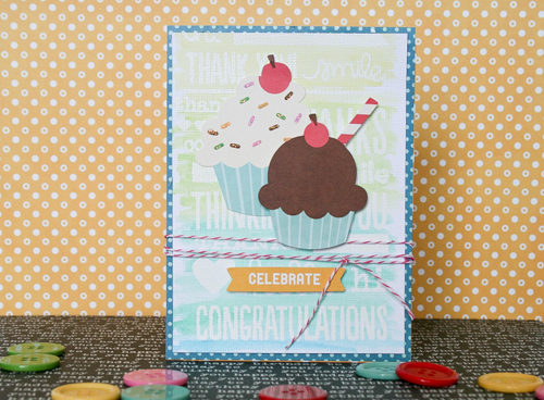 Handmade birthday card created by @antenucci for @PebblesInc using the #BirthdayWishes collection #birthday #card #handmade