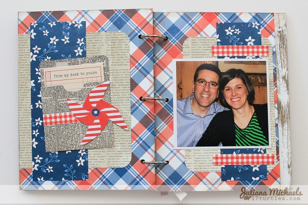 Father's Day mini album created by @julianamichaels for @pebblesinc using the #Americana collection #scrapbooking #crafts #FathersDay #MiniAlbum