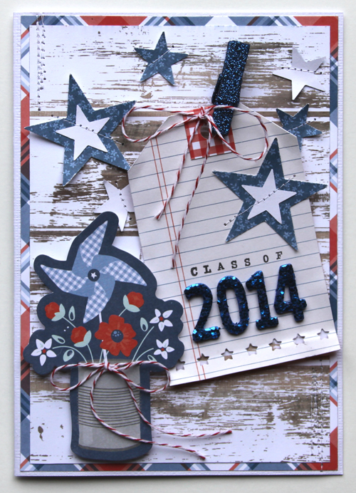 Handmade graduation cards created by @reneezwirek for @PebblesInc using the #Americana collection #handmade #cards #graduation
