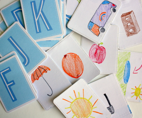 How to use scrapbooking supplies as teaching aids via @kimjeffress for @PebblesInc #education #teacheraid #alphabet
