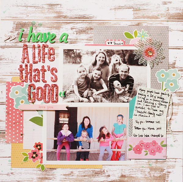 Mother's Day #scrapbook layout created by @beckywilliams for @PebblesInc using #GardenParty #Americana and #SpecialDelivery