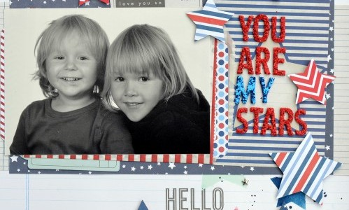 Using Rub-Ons in a Scrapbook Layout