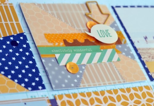 Summer beach layout created by @scrappymermaid for @PebblesInc #scrapbooking #summer #beach